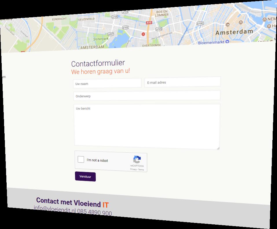 Contactformulier screenshot 3d